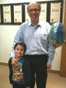 Luca y Maximo Aguirre en su cumpleaños