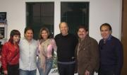Carmen Jara Visito las oficinas de MAMP para escuchar canciones para su proximo proyecto. (de Izq. a Der. Eriort Compositora de MAMP, Adrian Martinez, Samuel Lopez.