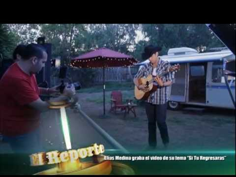 Elías Medina graba video de su próximo sencillo