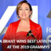 CLAUDIA BRANT WINS BEST LATIN POP ALBUM AT THE 2019 GRAMMYS